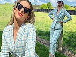 Phoebe Burgess, 31, dons a $20,000 outfit as she poses in her backyard