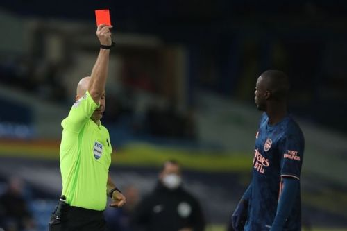 """Nicolas Pepe speaks out after """"unacceptable"""" red card in Arsenal's draw at Leeds"""