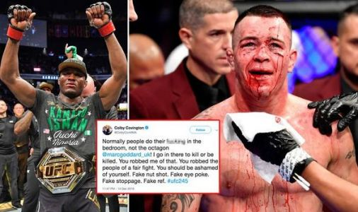 Colby Covington launches x-rated rant at referee after Kamaru Usman UFC 245 defeat