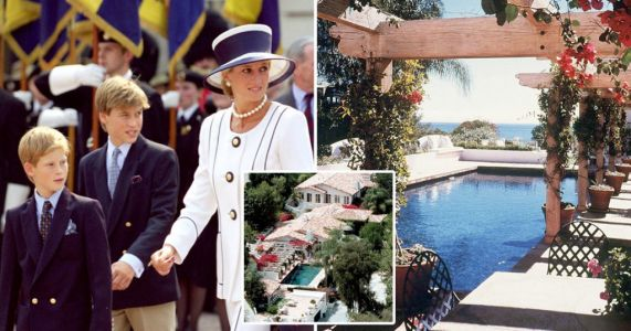 Diana 'planned to move to Malibu with Harry and William to launch movie career'