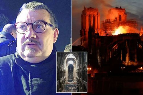 Revealed: hero fire brigade chaplain paused to give a blessing as he rescued priceless relics from Notre Dame flames
