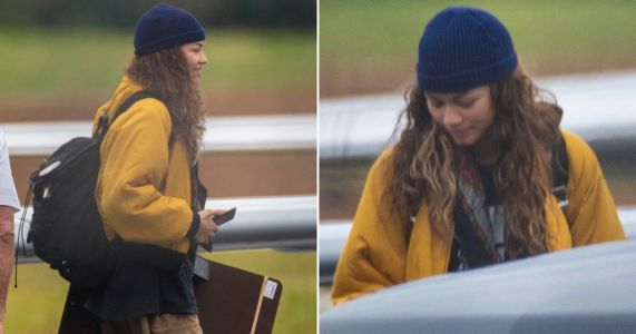 Zendaya looks stylish as she flies in to Atlanta on private jet to film Spider-Man 3 with Tom Holland