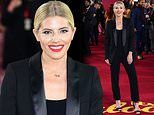 Mollie King opts for androgynous chic in black suit as she attends the ITV Palooza