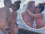 'Get your hand out of my butt!': Bikini-clad Brooke Burke packs on the PDA with her fiancé