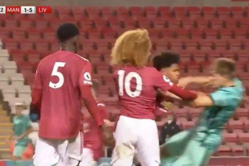 Man Utd vs Liverpool U23s play out eight-goal thriller with two sent off