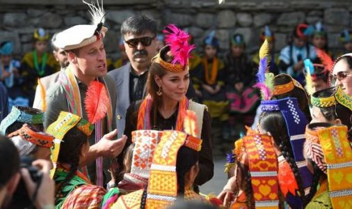 Kate teases Prince William over his dance moves after royals treated to show in Pakistan