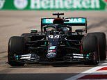 Lewis Hamilton finishes fastest in Saturday's third and final practice race for Russian Grand Prix