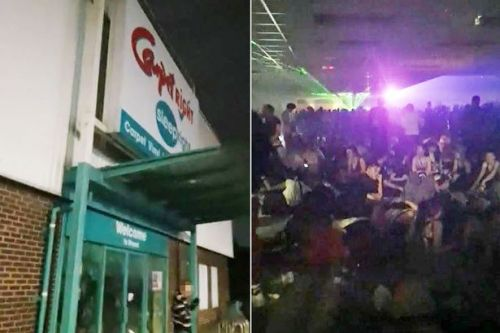 Police storm illegal Carpetright warehouse rave attended by 1,000 revellers