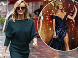 Amanda Holden wears a demure midi dress after sparking 235 Ofcom complaints on Britain's Got Talent