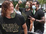 Norman Reedus bonds with fans as he joins protests in LA sparked by the death of George Floyd
