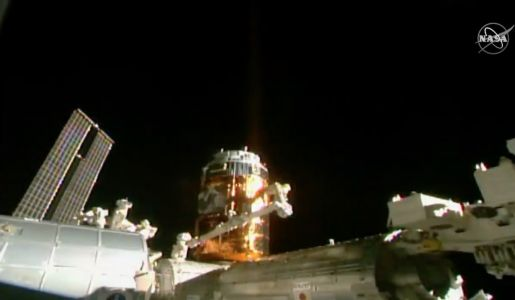 HTV supply ship successfully berthed at space station