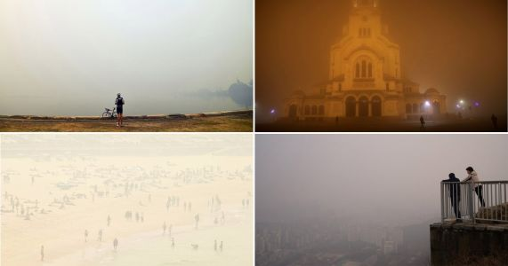 Ethereal beauty of the thick smog that is killing cities across Europe