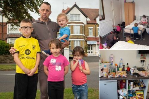 Family with five kids squeezed into room 'you couldn't swing cat in' after eviction