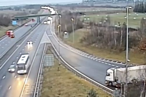 Lorry driver jailed for motorway U-turn madness as police release terrifying video