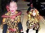 Madonna, 61, proves age is just a number as she gives one of her six-year-old twins a piggy ride