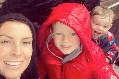 Coleen Rooney gets soaked on day out at Blackpool Pleasure Beach with four sons