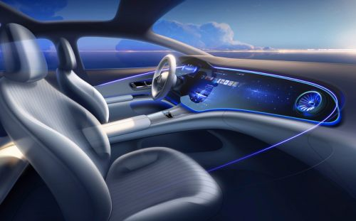 Mercedes' Tesla Model S-rivalling luxury electric car gets triple-screen digital dashboard