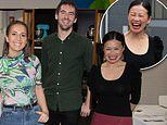 Masterchef favourites Poh Ling Yeow, Laura Sharrad and Callum Hann look delighted to reunite