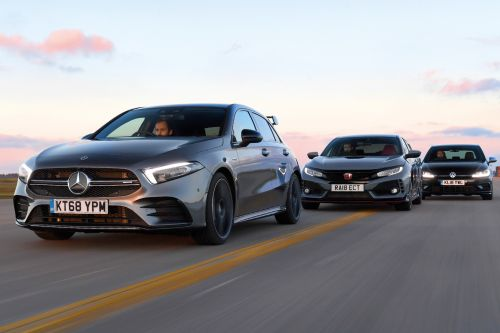 Mercedes-AMG A 35 vs Honda Civic Type R vs Volkswagen Golf R