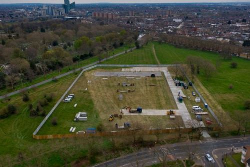 Morgue the size of two football fields being built near NHS coronavirus hospital