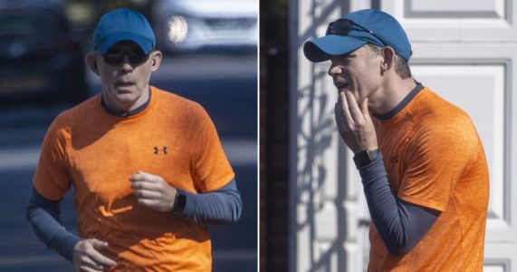 Lee Evans spotted for first time in two years after retiring from comedy as he heads on a jog