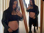 Paul Weller's pregnant daughter Leah, 29, showcases her blossoming baby bump in a crop top