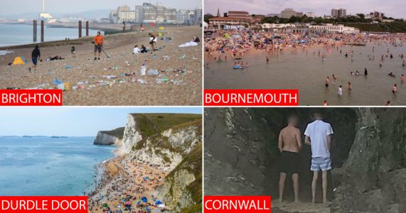 Beaches lined with rubbish, poo, vomit and urine after thousands gather on hot weekend