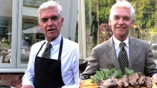 Phillip Schofield gets grilling at family barbecue with wife Steph and daughters Molly and Ruby