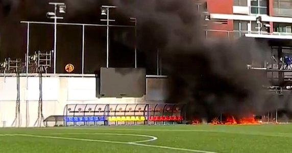 Andorra stadium on fire ahead of England's World Cup qualifier clash