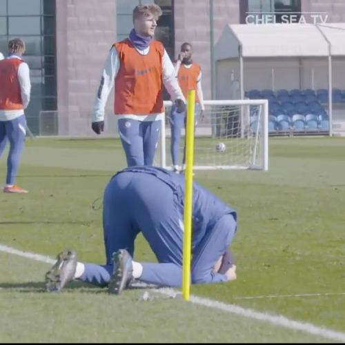 : Tuchel hits the deck in vocal and buzzing Chelsea training session
