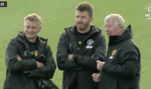 Man Utd hero Sir Alex Ferguson spotted with Ole Gunnar Solskjaer on eve of Liverpool game