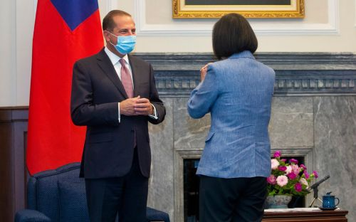 US health secretary Alex Azar praises Taiwan president Tsai Ing-wen in breakthrough meeting