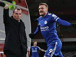 Leicester boss Brendan Rodgers hails 'wonderful talent' Jamie Vardy as Arsenal nemesis strikes again