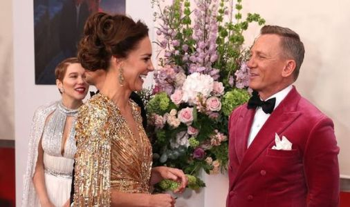 One is meeting Mr Bond! Kate dazzles with Daniel Craig at No Time to Die premiere