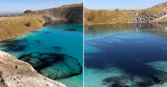 Police dye 'Blue Lagoon' black to deter social gatherings amid coronavirus lockdown