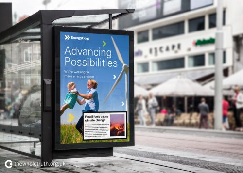 Here's what it would look like if fossil fuel ads had warning labels