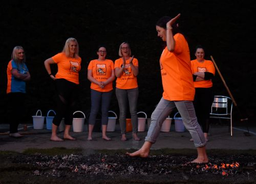 Hardy Aberdeenshire group take on hot coals to raise cash for Charlie House