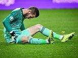 De Gea injury scare for Manchester United as goalkeeper limps off in Spain clash