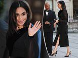 Meghan wears a £2,220 Givenchy dress for her first solo engagement