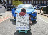 Grandmother, 58, who staged one-woman Extinction Rebellion stunt is let off by judge