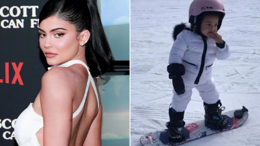Kylie Jenner takes daughter Stormi, 1, snowboarding and she's already total pro