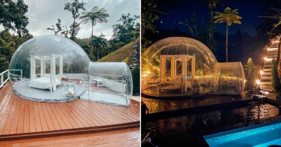 You can stay in a bubble hotel in Puerto Rico with 360-degree views