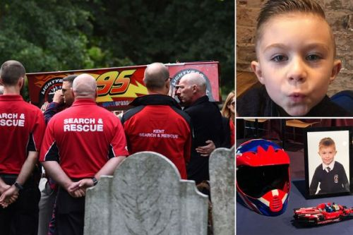 Lucas Dobson: Boy who died in river laid to rest in Cars coffin on 7th birthday