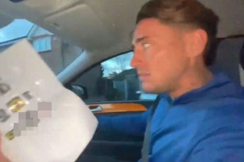 Stephen Bear flees his home as terrifying note is posted through his door