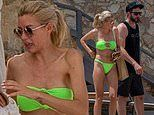 Heather Rae Young dons neon bikini on beach date with fiance Tarek El Moussa