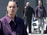 Solange Knowles and husband Alan Ferguson spotted on a rare public outing as they step out for lunch