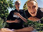 Cara Delevingne keeps up her fitness as she takes part in yoga workout to stay 'sane'