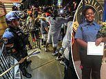 Moment protesters in Louisville protect a cop who got separated from his police unit