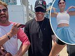 Vanessa Hudgens and Gerard Butler party together on boat in Malibu during surprise birthday for pal