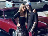 Aaron Carter and fiance Melanie Martin reveal positive pregnancy test on his Instagram